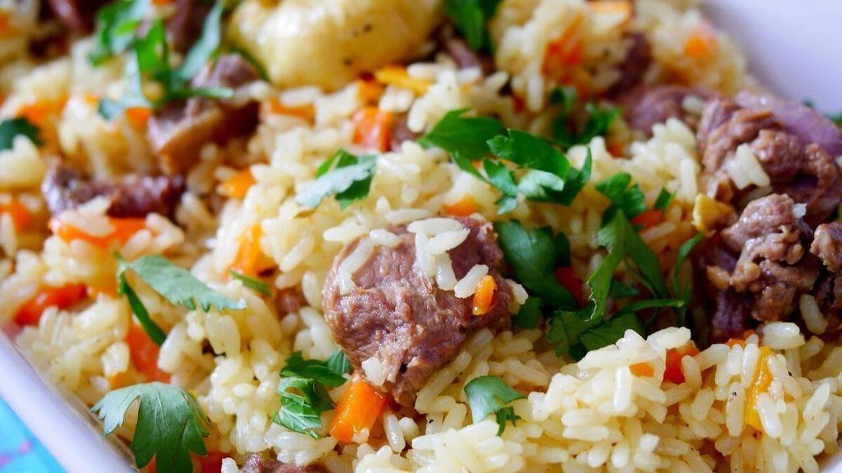 Plovs ar jēra gaļu 1 kg